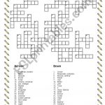 Verbs Crossword Puzzle   Esl Worksheetdiamicar   Verbs Crossword Puzzle Printable