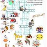 Verbs Of Action//crossword Puzzle Worksheet   Free Esl Printable   Worksheet Verb Puzzle