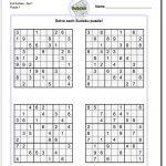 Very Hard Sudoku Puzzle To Print 5   Free Printable Sudoku With   Printable Sudoku Puzzles Easy #1 Answers