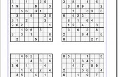 Printable Sudoku Puzzles Easy #1 Answers