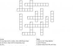 Printable Viking Crosswords