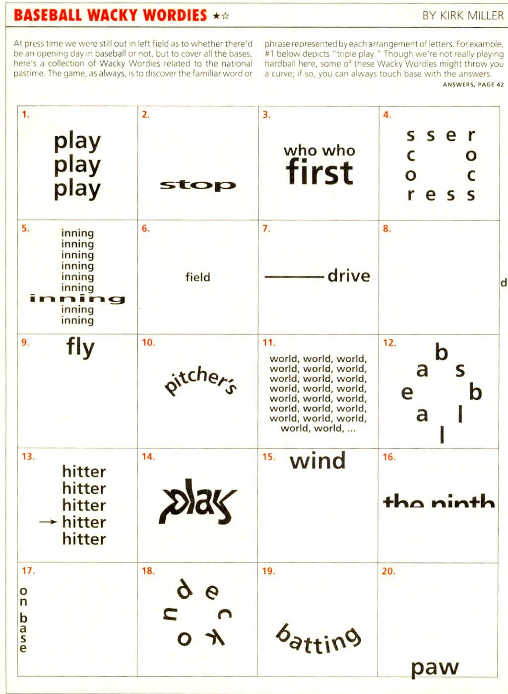 Wackie Wordies Brainteaser #69   Wordles - Printable Wordles Puzzles