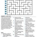 Wall Street Journal Crossword Contest – Journal Foto And Wallpaper – Wall Street Journal Crossword Puzzle Printable