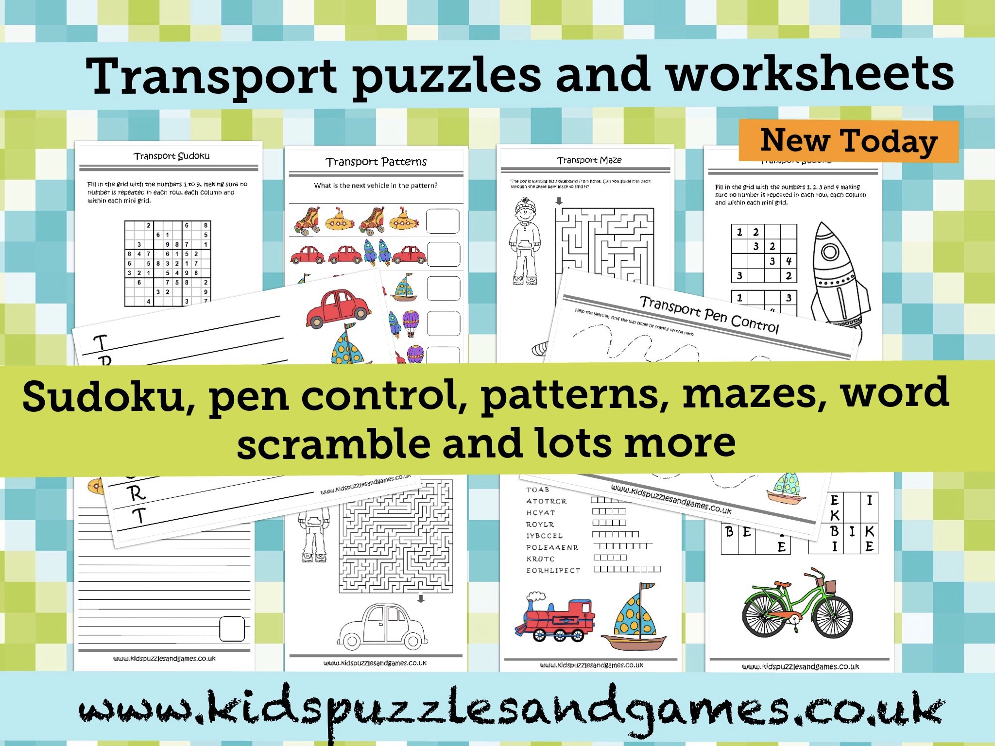 Welcome To Kids Puzzles And Games - Printable Transportation Puzzles
