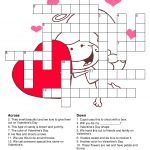 What A Great Way To Spend The Night With Your Love Then Being Smart   Valentine Crossword Puzzles Printable