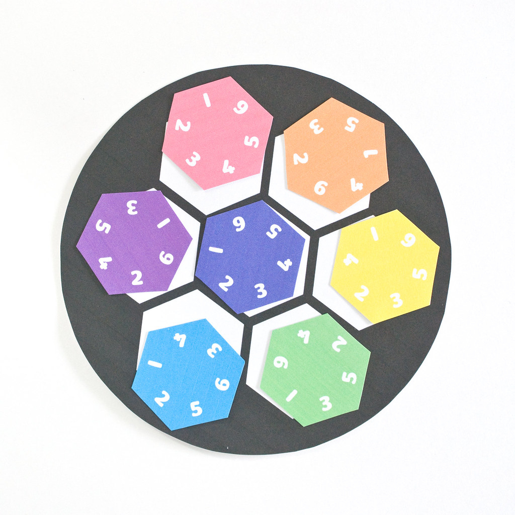 Wild Olive: Printable // Hexagon Number Puzzle - Printable Hexagon Puzzle