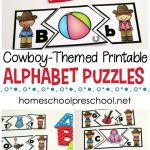 Wild West Themed Alphabet Puzzle Printables | Homeschooling Ideas   Printable Puzzle Alphabet