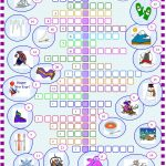 Winter : Crossword Puzzle With Key Worksheet   Free Esl Printable   Printable Winter Crossword Puzzle
