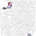 Winter Maze Puzzle | Free Printable Puzzle Games   Printable Labyrinth Puzzles