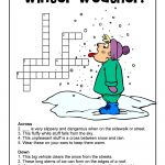 Winter Word Puzzles & Compound Words Vocabulary Worksheets | Woo! Jr   Printable Winter Crossword Puzzle