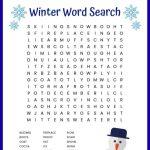 Winter Word Search Free Printable Worksheet   Printable Winter Puzzle