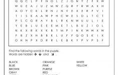 Printable Word Puzzle For Kindergarten