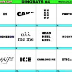 Words Up? Dingbat Puzzles   Printable Pictogram Puzzles