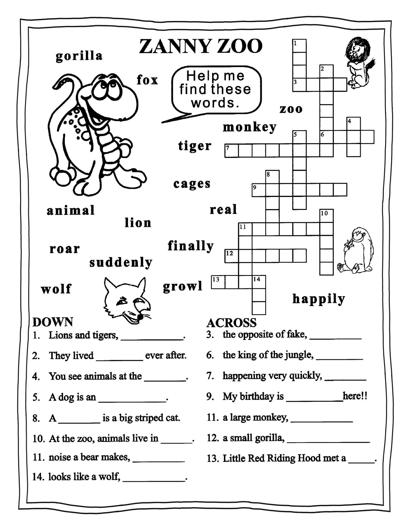 Worksheets For Grade 3 English   Learning Printable   Educative - Printable English Puzzle
