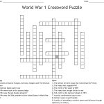 World War 1 Crossword Puzzle Crossword   Wordmint   Wwi Crossword Puzzle Printable