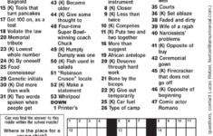 Toronto Sun Crossword